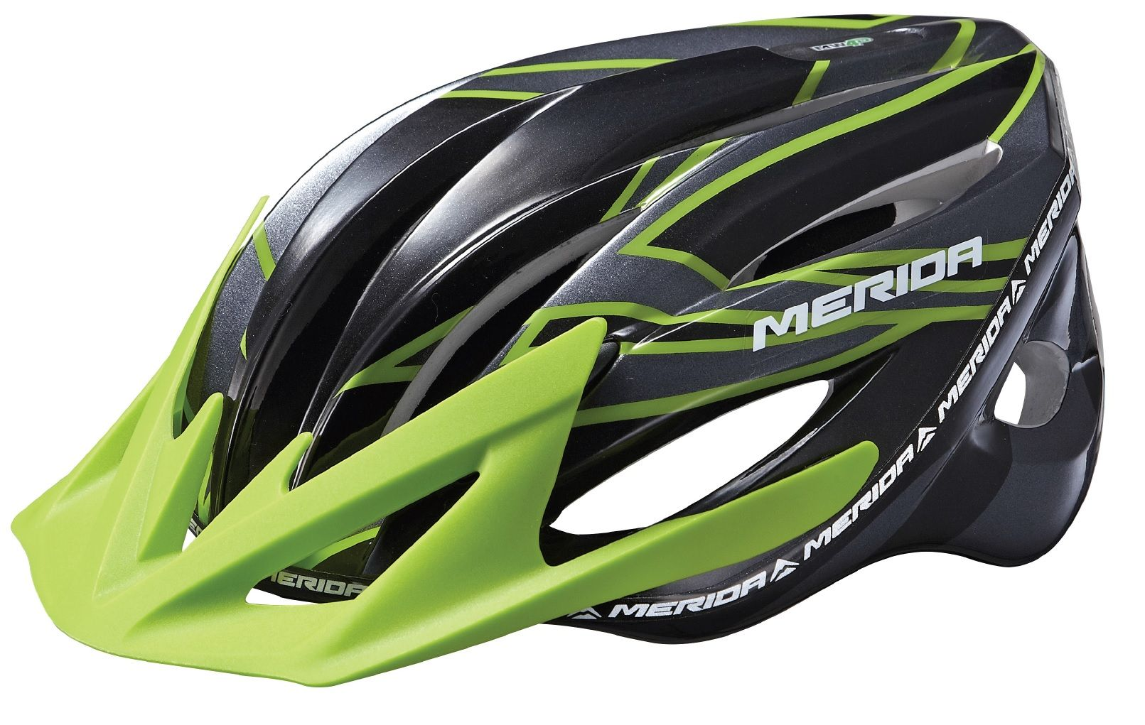 Přilba MERIDA MG2 matt black/shinny green L (59-65cm)