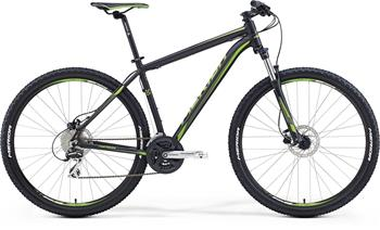 "MERIDA BIG.NINE 20-D Matt Black(Green) 2018 vel.XL (21"")"