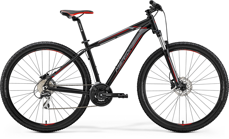"MERIDA BIG.NINE 20-D Matt Black(Red/Silver) 2019 vel. XL (21"")"