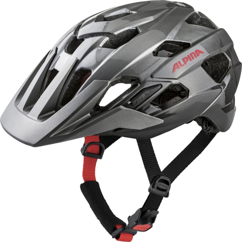 Přilba ALPINA ANZANA dark silver-black-red 52-57cm