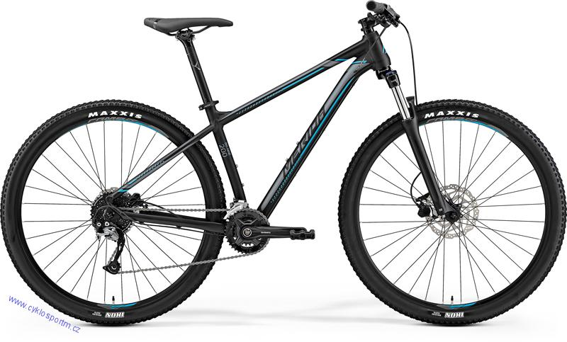 "MERIDA BIG.NINE 200 Matt Black(Silver/Blue) 2019 vel.M (17"")"