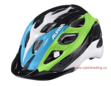 Přilba ALPINA ROCKY black-blue-green 52-57cm