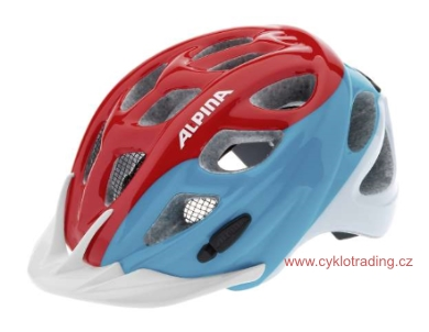 Přilba ALPINA ROCKY red-blue-white 47-52cm