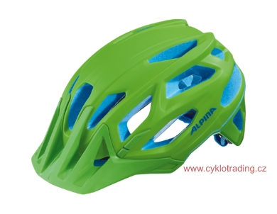 Přilba ALPINA GARBANZO neon green-blue 52-57cm