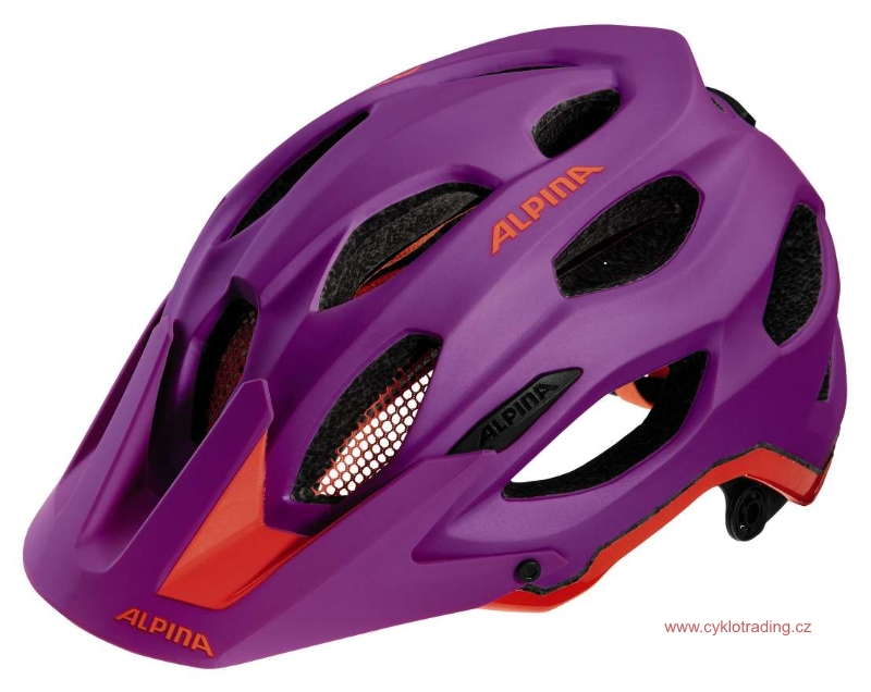 Přilba ALPINA CARAPAX purple-neon red 52-57cm