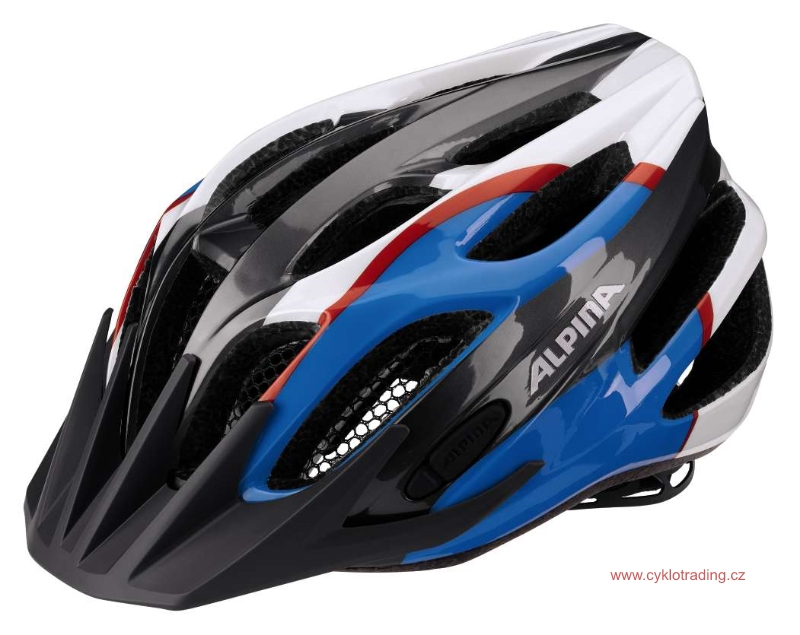 Přilba Alpina FIREBIRD Junior 2.0 Flash anthracite-blue-red(s blikačkou)50-55cm