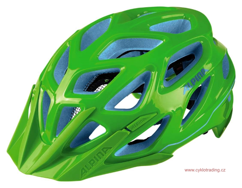Přilba ALPINA MYTHOS 3.0 neon green-blue 52-57cm