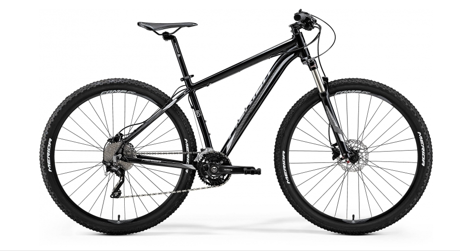 "MERIDA BIG.NINE 80-D Metallic Black(Silver)2018 vel. L (18.5"")"
