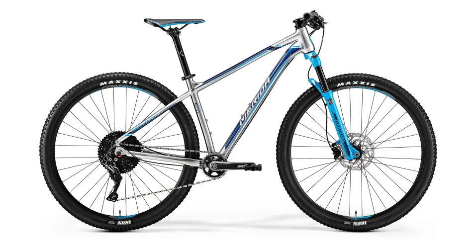 MERIDA BIG.NINE 600 Shiny Silver(Sky Blue/Blue) 2018