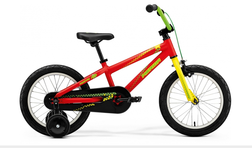 "Merida MATTS J.16 Matt Red(Yellow/Green) 9"" 2018"