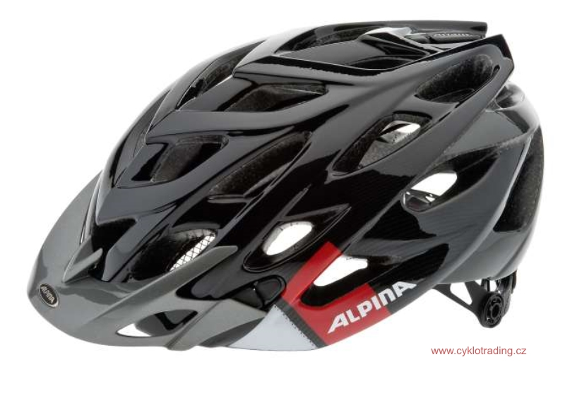 Přilba ALPINA D-ALTO black-red-white 52-57cm