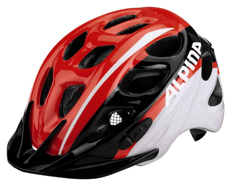 Přilba ALPINA ROCKY  ROCKY neon red-black-white 52-57cm