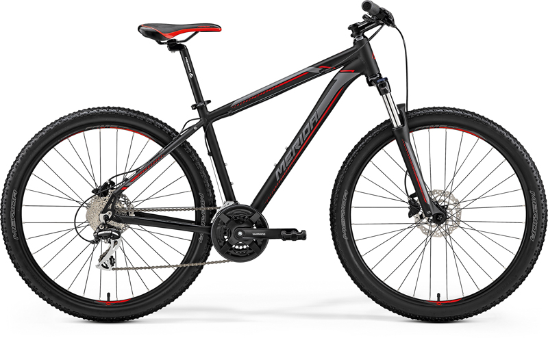 "MERIDA BIG.SEVEN 20-D Matt Black(Red/Silver) 2019 vel. M (17"")"