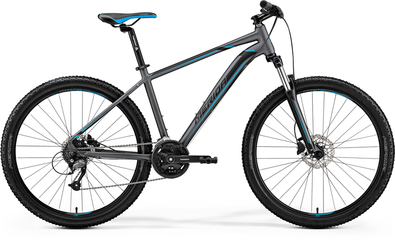 MERIDA BIG.SEVEN 40-D Matt Dark Silver(Blue/Blk) 2019