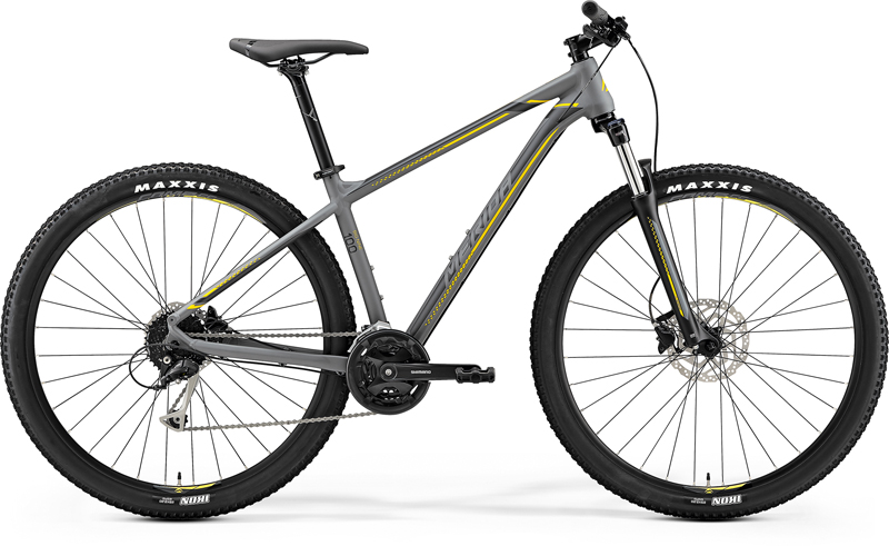 "MERIDA BIG.NINE 100 Matt Grey(Yellow/Dark Grey) 2019 vel. XXL (22"")"