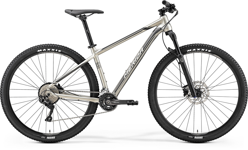 MERIDA BIG.NINE 500 Silk Titan(Silver/Black) 2019 vel. L 18.5""