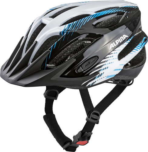 Přilba ALPINA TOUR 2.0 black-white-blue 53-58cm