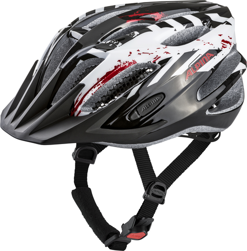 Přilba ALPINA TOUR 2.0 black-white-red 53-58cm