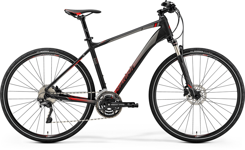 MERIDA CROSSWAY 500 Matt Black(Red) 2019