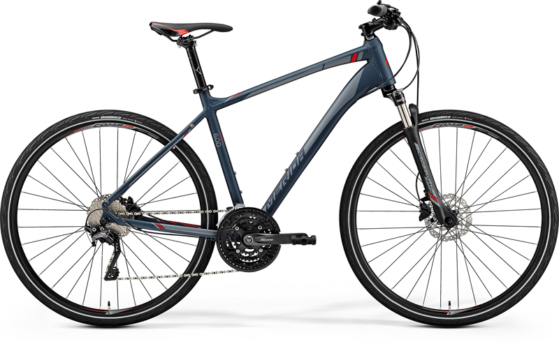 MERIDA CROSSWAY 600 Matt Dark Grey(Red/Silver Grey) 2019