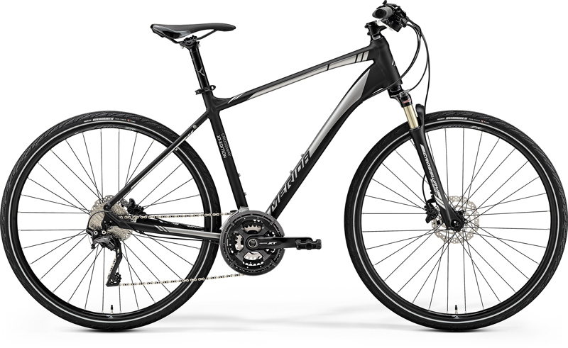 MERIDA CROSSWAY XT-EDITION Matt Black(Shiny Silver) 2019