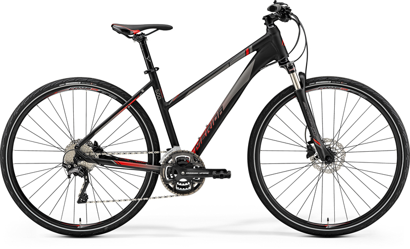 MERIDA CROSSWAY 500-LADY Matt Black(Red) 2019 vel.M (51)