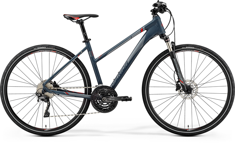 MERIDA CROSSWAY 600-LADY Matt Dark Grey(Red/Silver Grey) 2019 vel.M (51)