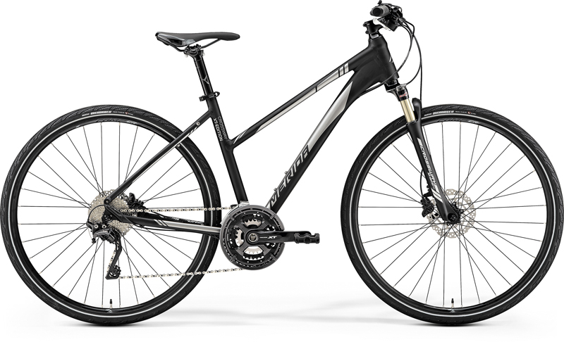 MERIDA CROSSWAY XT-EDITION-LADY Matt Black(Shiny Silver) 2019 vel.M (51)